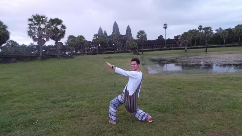 Fabio at Angkor Wat