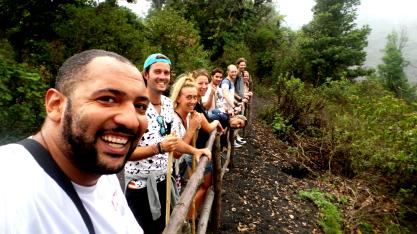 the group at volcano Pacaya
