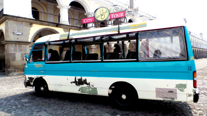 Bus in Antigua